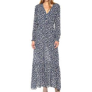 ECI New York Women's Printed Maxi Dress Blue 10
